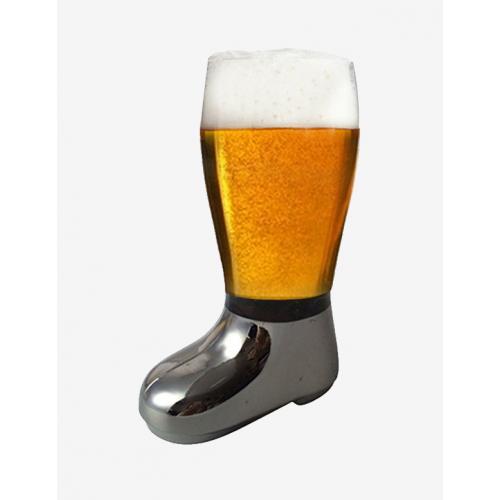 Barraid Designer Beer Boot Mug silver el...