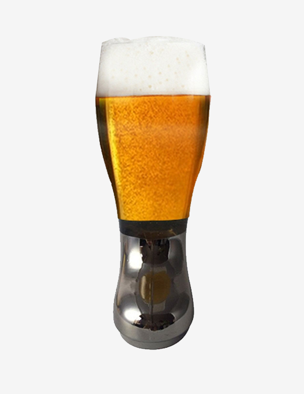 Barraid Designer Beer Boot Mug silver electroplated