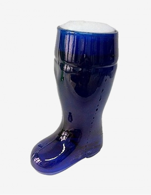 Barraid Blue Beer Boot Glass