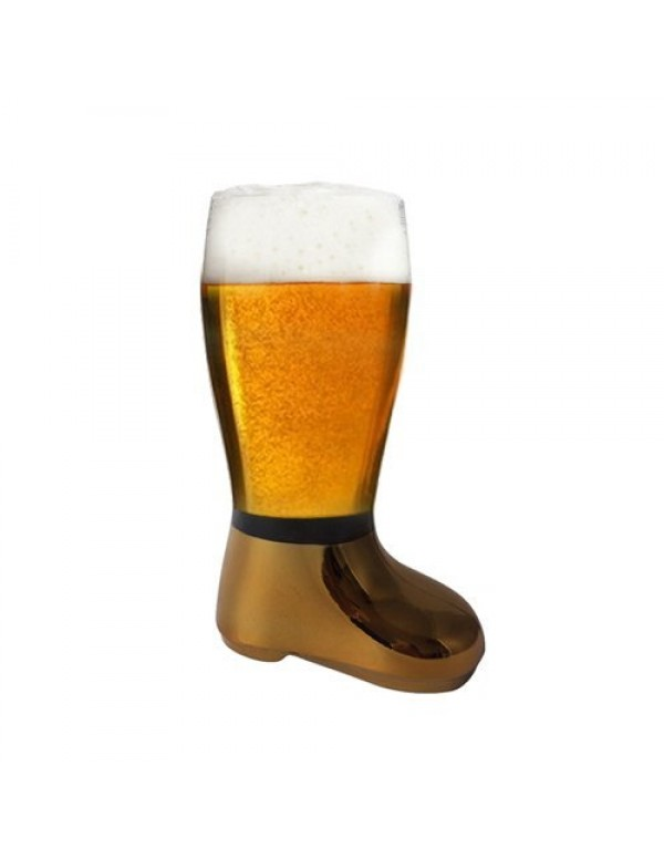 Barraid Four Pack Beer Boot Glass Golden Eletcroplated Capacity 750 ML