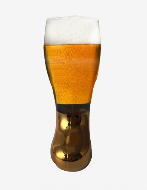 Barraid Designer Beer Boot Mug Golden electroplate...