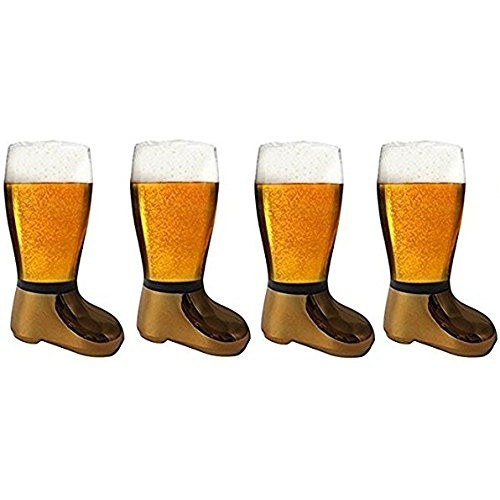 Barraid Four Pack Beer Boot Glass Golden...