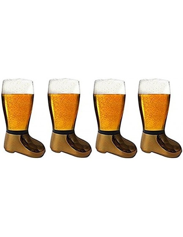 Barraid Four Pack Beer Boot Glass Golden Eletcropl...