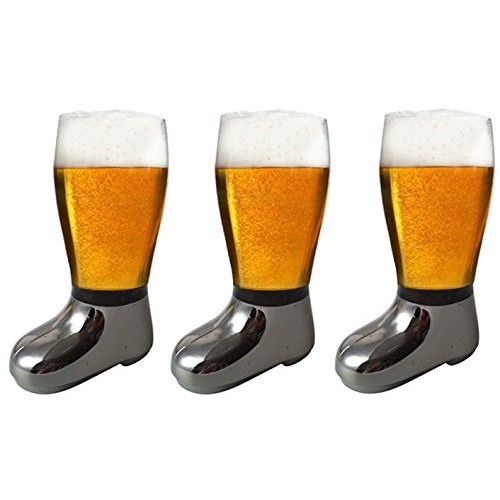 Barraid Three Pack Beer Boot Glass Silve...