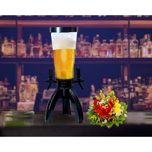 BARRAID Tripod Triple Tap Beer Dispenser...