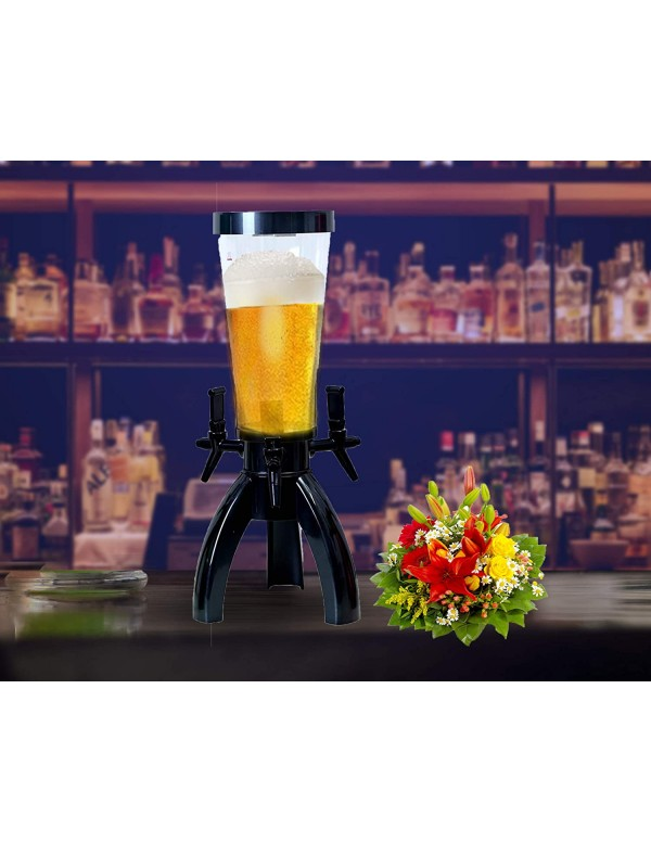 BARRAID Tripod Triple Tap Beer Dispenser/Decanter for Beer/Whisky/Wine for Bars/Pubs (3000 ml/3 L)