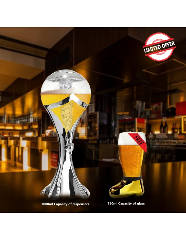BARRAID Amazing Offer Silver World Cup Beer Tower/...