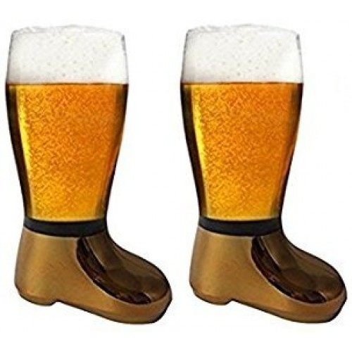 Barraid Two Pack Beer Boot Glass Golden ...