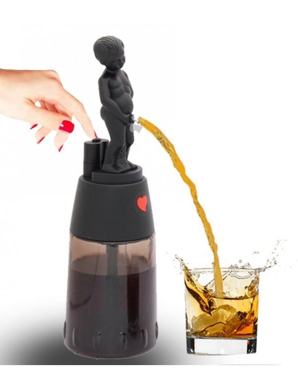 Barraid Brilliant Black Bonny Boy Round Shape Liquor Dispenser Capacity 500 ML