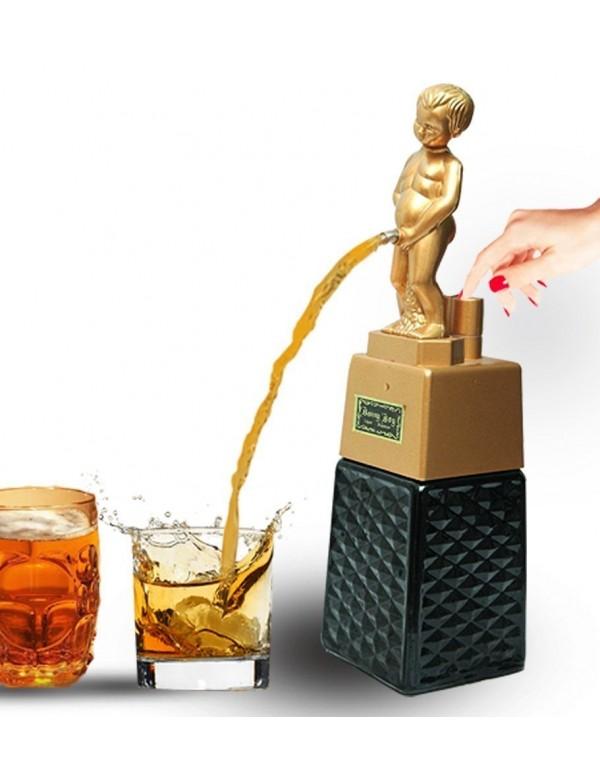 Bonny Boy Square Golden Liquor Dispenser 500 ml Capacity