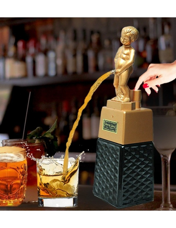 Bonny Boy Square Golden Liquor Dispenser 500 ml Ca...