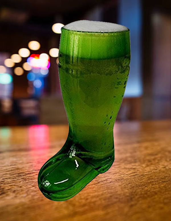 Barraid Green Beer Boot Glass